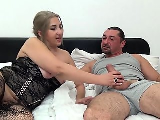 HAIRY beginner BIG ASS MILF first porn