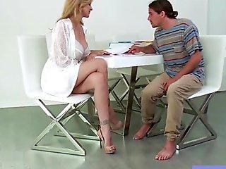 (julia ann) Mature Big Round Tits Lady Fucks On Camera vid-14