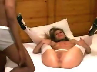 InterracialPlace.org - Blonde Housewife Gets A Creampie By A BBC