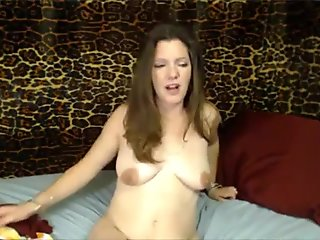 Hot squirting housewife masturbates