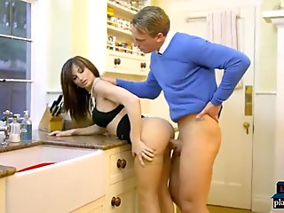 French MILF wife seduces student of her blind husband