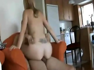 Horny Blonde Wife Cheating on Her Husband