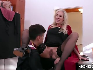 Tempting mom Brandi Love answers the door and lets Juan in for some milk and cookies as