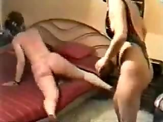 My wife whipping our slut slave ! Home made video