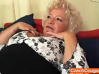 Big-breasted furry vagina grandma