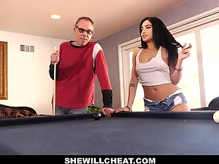 SheWillCheat - Latina Babe Selena Destroyed by BBC while Husband Watches