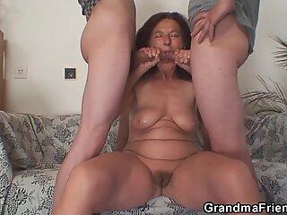 Granma sucks and rides at same time