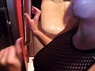 Submissive Wife Slut Draining Gloryhole Cocks Part2