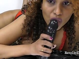 gargle bbc faux-cock Spitting and drooling