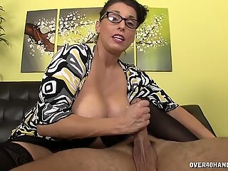Mature Lady With Cum On Her Big Tits - Stacie Starr