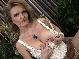 Posh grandma with big saggy tits