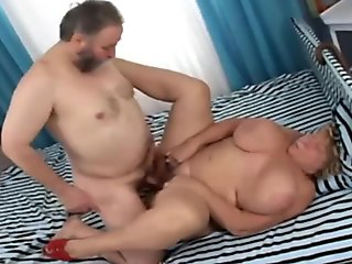 Big tits blonde sheds the pounds with wild sex