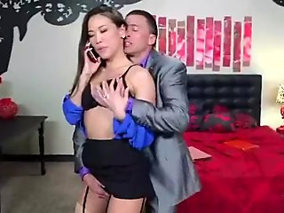 (kalina ryu) Naughty Wife Cheating In Front Of Camera movie-14
