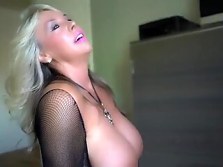 Big Tits Milf Wanks and Straddles Fake BBC Till She Cums