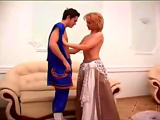 Russian Mom and Son Halloween Sex 2