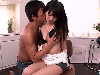 Sensual sex with oral stimulation along Riisa Minami