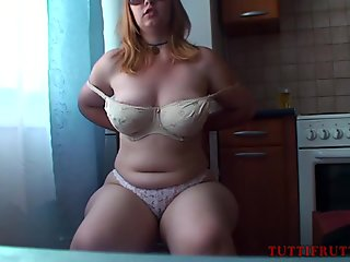 Marvelous Amateur Bbw Pegged And Licked