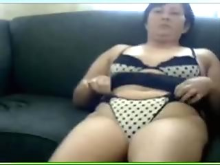 Watch my overweight mother I'd like to fuck wife masturbating in polka dotted underware
