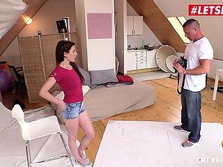 MyNaughtyAlbum - Horny Czech Teen Seduces Photographer into Hardcore Pussy Fuck - LETSDOEIT