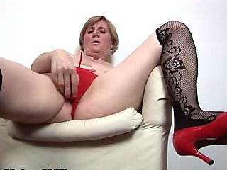 Horny mature  wearing a sexy