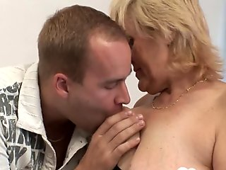 Two blonde babes share one raging boner