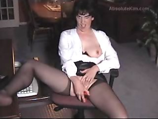Mature amateur milf housewife toying her pussy and cuckold