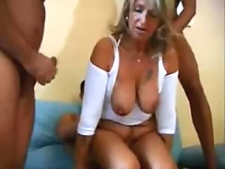 slutwife decided to try with 3 guys at one time