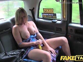 Fake Taxi Mum with big natural tits gets big british cock