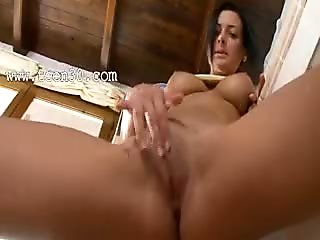 Horny housewife with incredible bum