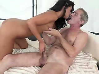 Grampa Eats out his wife and Fingers her ass
