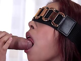 Obedient wife mouth fuck and facial