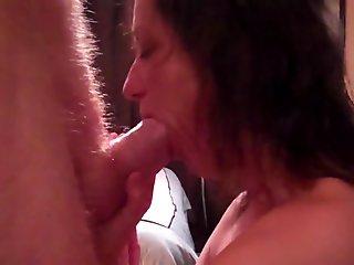 Mature Wife Sucking Fat Cock Until Cum In Mouth