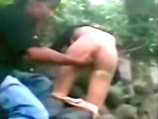 indonesian Teen Fucked by her BF in a Jungle