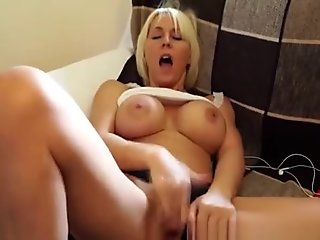 Hot Big Tits Milf Couch Masturbation