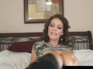 Busty Florida MILF Charlee Chase Looks Good in Camo!