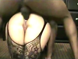 Amateur wife interracial anal creampie
