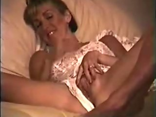 Horny housewife rubbing her wet pussy